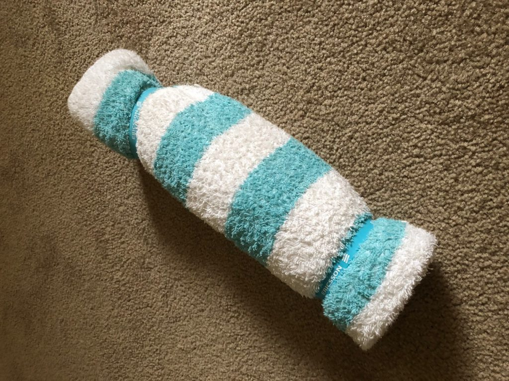 Rolled-up towel